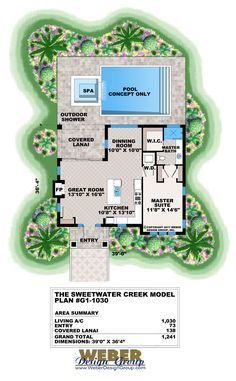 Small House Plan: 1 Story Cottage Style Home Floor Plan