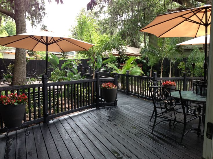 49 best images about black patio on pinterest stains for Garden decking colour ideas