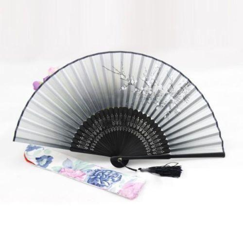 Hot Chinese Japanese Folding Black Hand Held Fan Silk Flower Bamboo Pocket Fan $10.99   #cute #streetstyle #instalike #shopping #fashionista #love #style #beautiful #styles #ootd #stylish #swag #iwant #sweet #instafashion