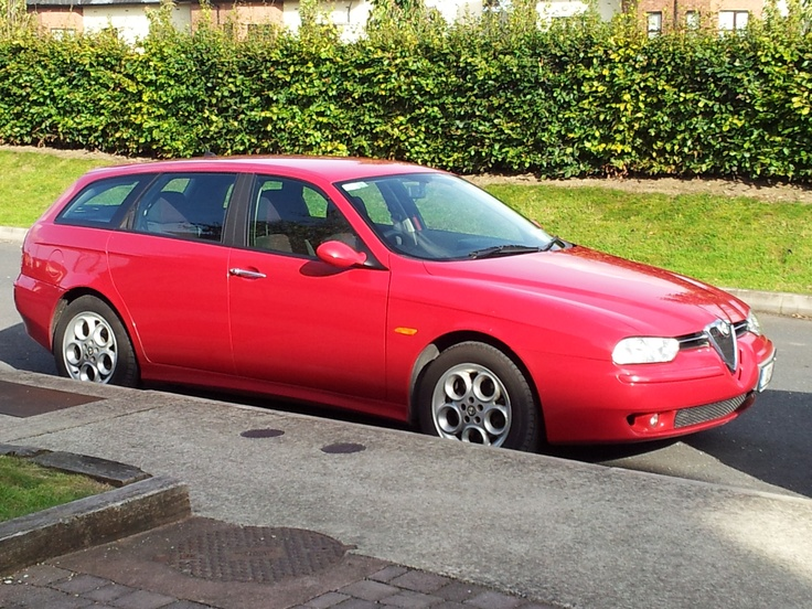 2002 Alfa Romeo 156 Sportwagon. My sixth car and one I jointly *own*.  Excellent car this.