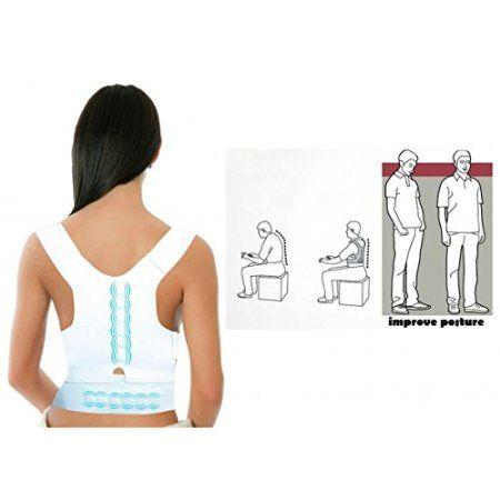 Supporto tutore a fascia per correzione postura schiena fascia posturale con magneti. MWS: Amazon.it: Sport e tempo libero