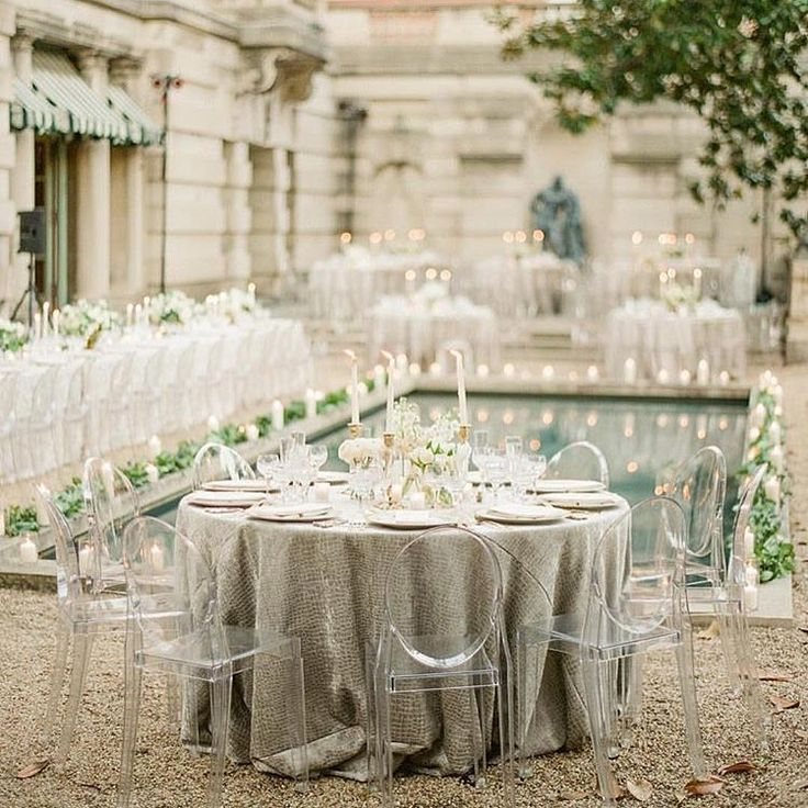 grey / white wedding with ghost chairs, Photo by KT Merry and Planning Design by Strawberry Milk Events