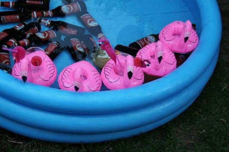 Drijvende Flamingo Drankhouder - 2 stuks