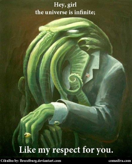 """Today's Random Cthulhu is: """"Feminist"""" Cthulhu (also known as the Lounge Lizard of Rl'yeh)."""
