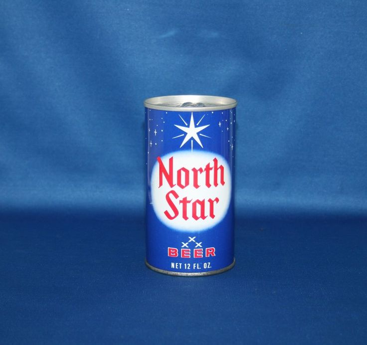 North Star Beer Steel Can Safety Tab Cold Springs Brewing Co Unopened Empty #NorthStarBeer
