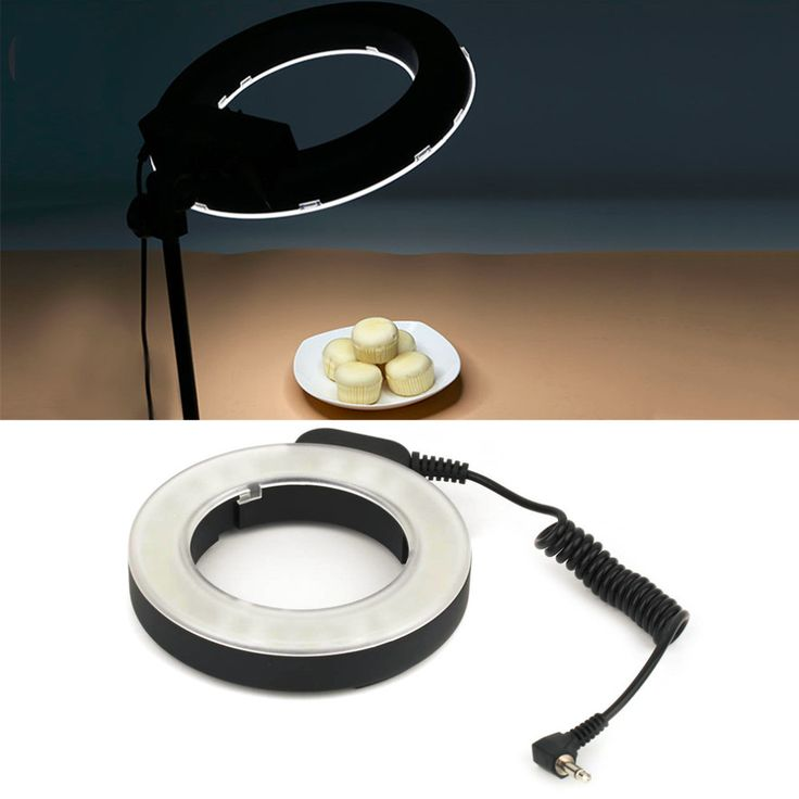 Professional Round 48 LED Ring Flash Light Photography For Canon For Nikon For Sigma Vedio Camera Lens