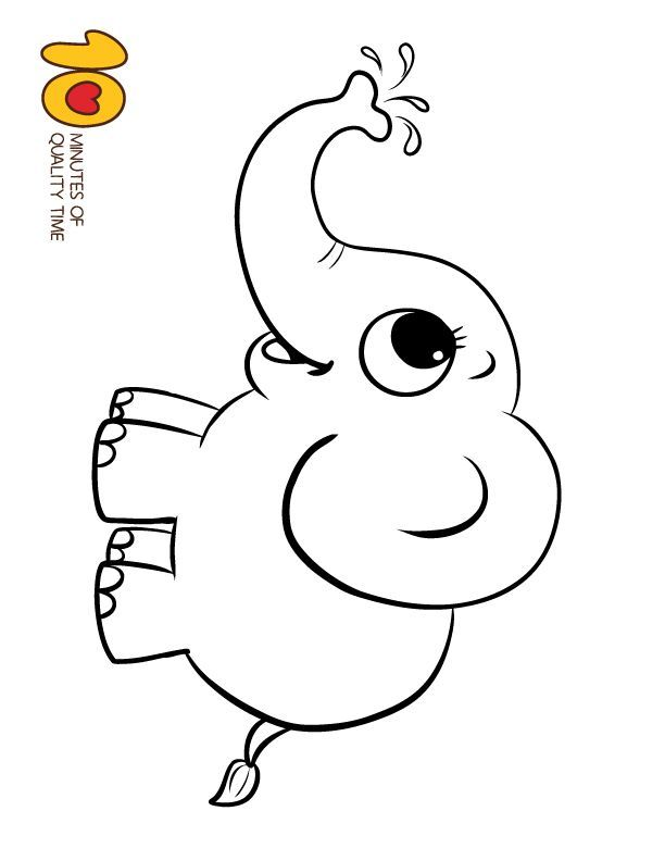 Elephant Coloring Page Elephant Stencil Elephant Doodle Baby