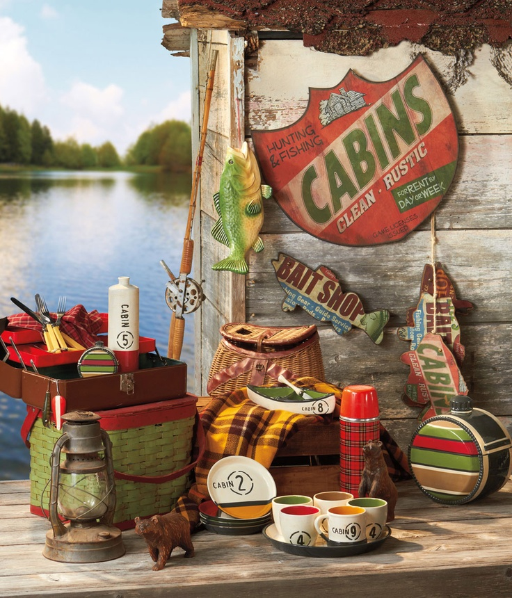 There is nothing like going to the Lake! Midwest-CBK has wonderful decor for your home away from home. Relax and escape everyday life with these decor peices that celebrate the cabin lifestyle. Inspired by nature and nostalgia, fishing, hunting and lakeside living. http://bit.ly/wBRxxy