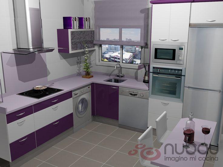 resultado de imagen para cocinas lilas y blancas ideas