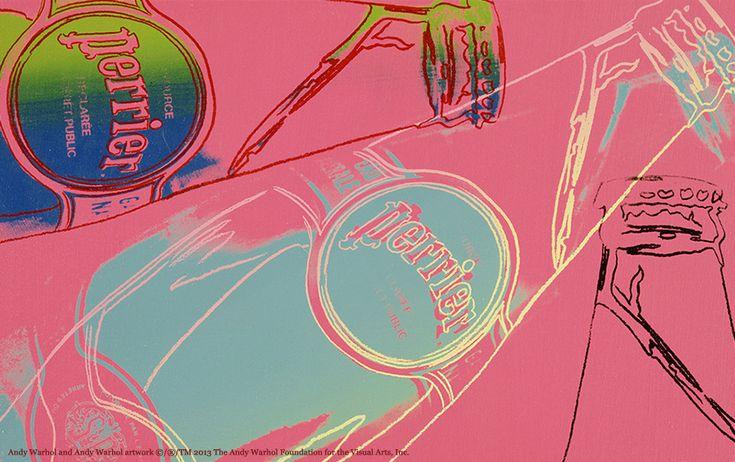 Andy Warhol pop art featuring Perrier bottle