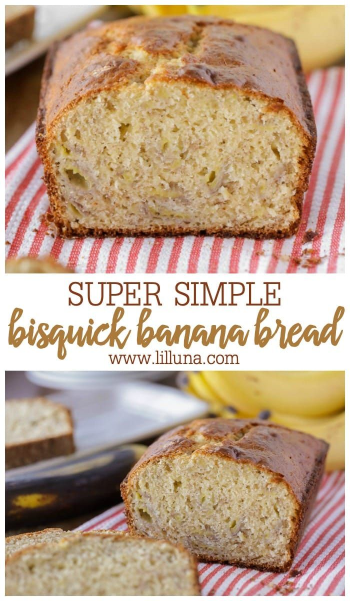 Easy Bisquick Banana Bread Recipe Lil Luna Recipe In 2020 Bisquick Banana Bread Bisquick Recipes Banana Bread Recipes