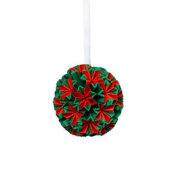 Origami Paper Bauble Red Green, $15, now featured on Fab.