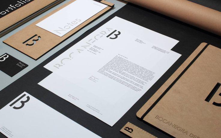 Bocanegra Studio identity Stationery - bocanegrastudio.com