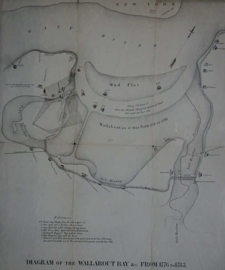 Diagram of the Wallabout Bay & c. from 1776-1783. W.H. Arthur &. Co. 19th Century. Brooklyn Historical Society Map Collection.