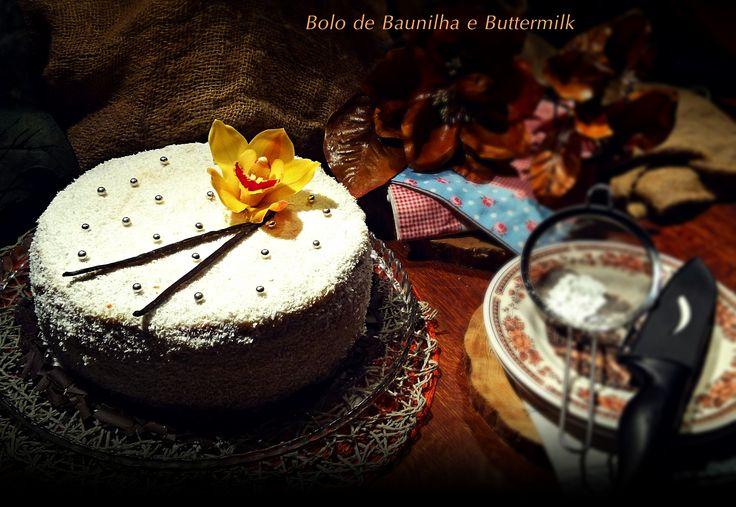 Quanto à receita já sabem onde a encontrar, aqui fica o link para facilitar: http://cozinharomatica.blogspot.pt/2015/01/bolo-de-baunilha-e-buttermilk.html