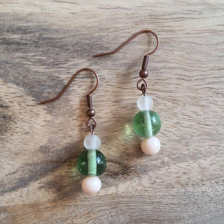 Glass Drop Earrings. by JdwCrafts on Etsy