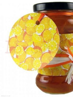 Jarcessories Oranges & Lemons Gift Tag 70mm the over-sized gift tag which really makes a statement. Packed in 5s