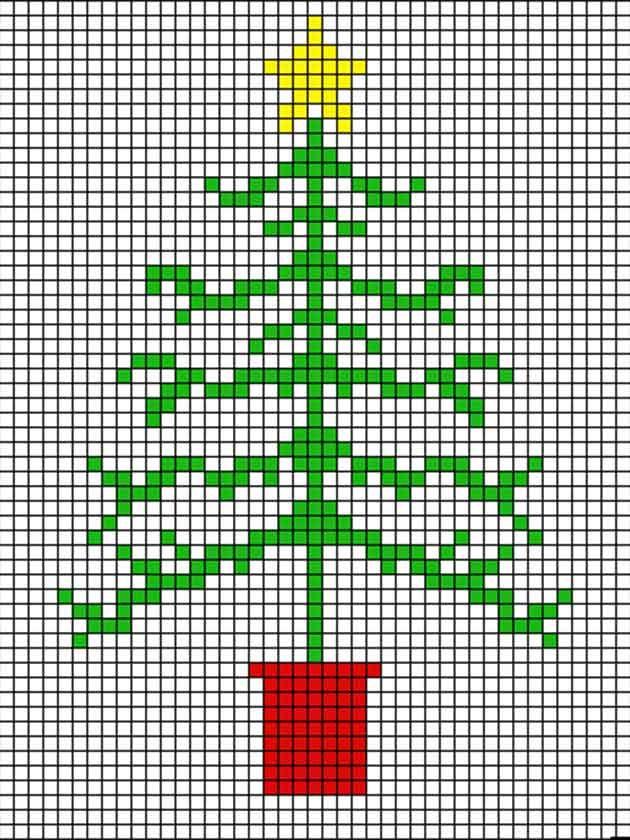 How to make a cross stitch Christmas tree card