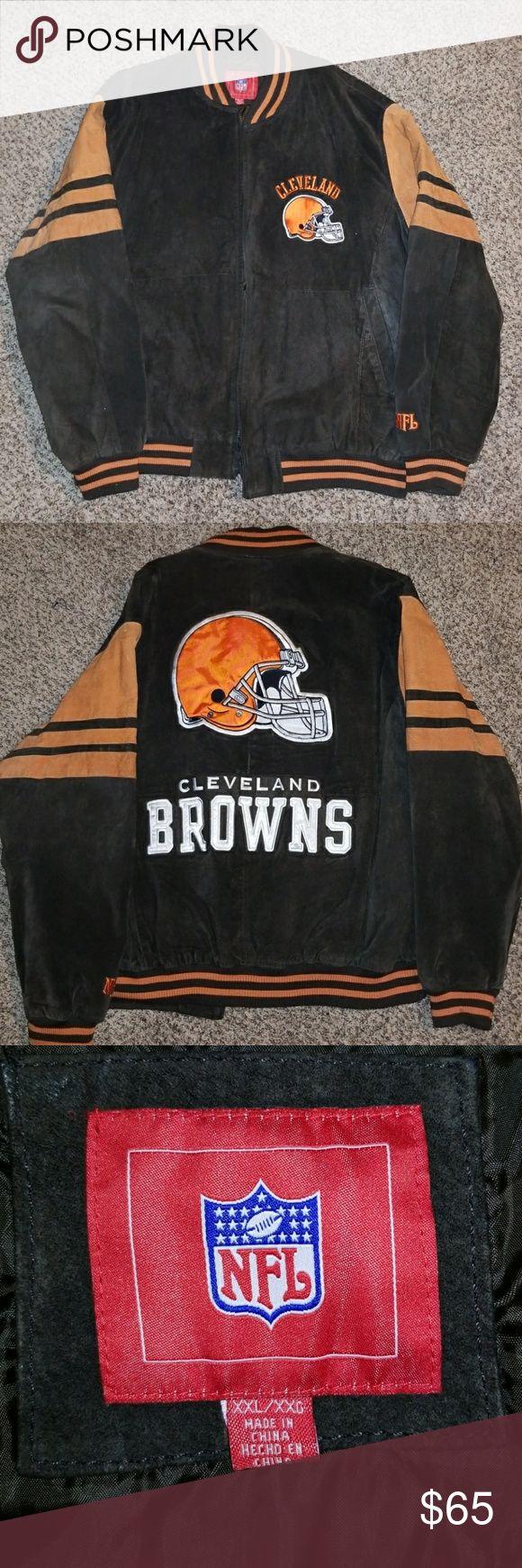 NFL Cleveland Browns Vintage Suede/Leather Jacket NFL Cleveland Browns Vintage Suede/Leather Jacket Size XXL NFL Jackets & Coats Bomber & Varsity