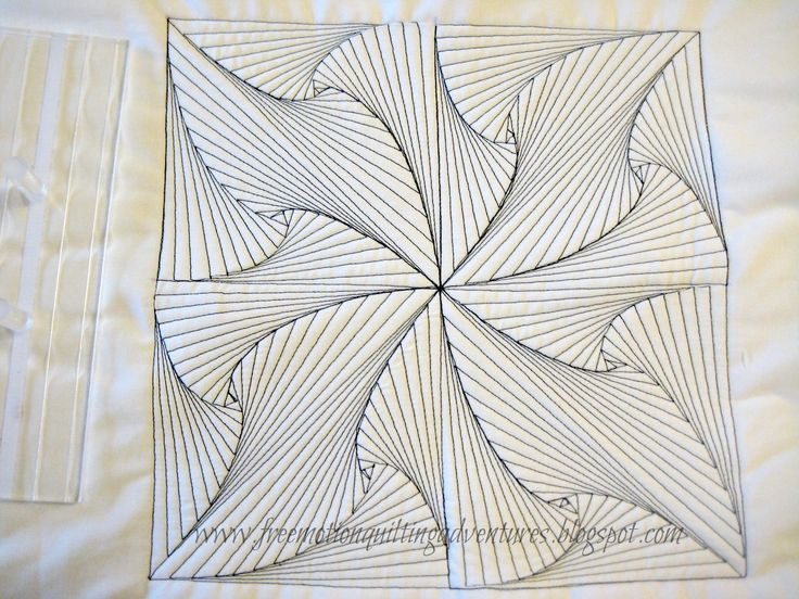 free motion quilting a zentangle- click through for an excellent video tutorial