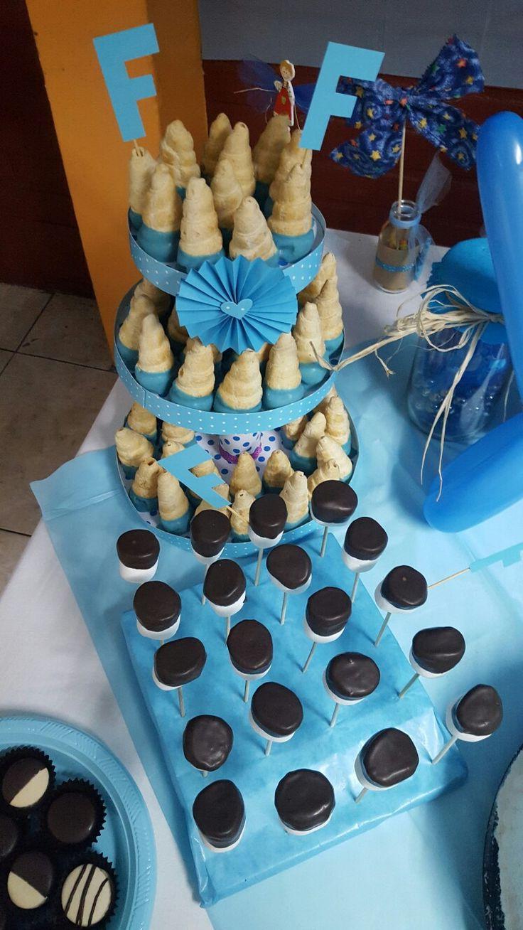 Exhibidor de dulces #cachitosdehoja #mashmellow