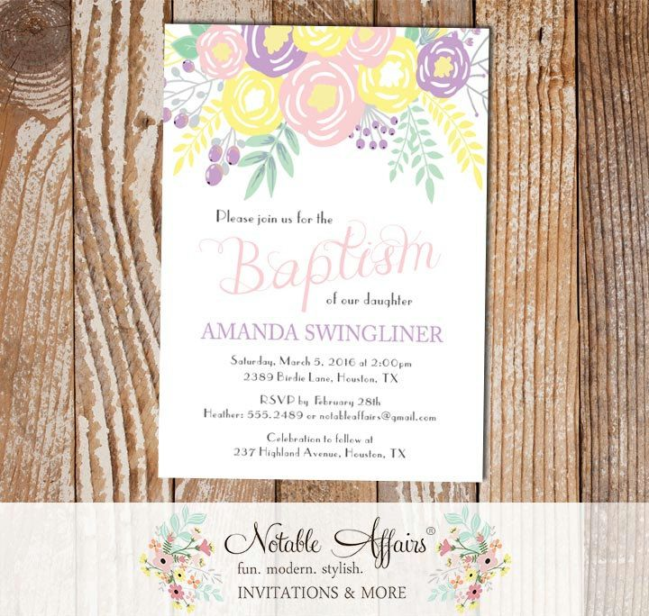 The 14 best Baptism Invitations and Decor Ideas for Girls images on ...