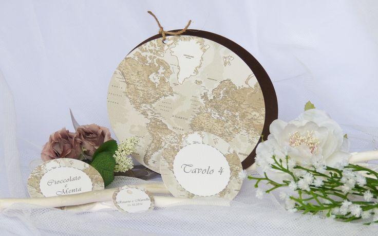 Coordinato collezione word per nozze a tema viaggio