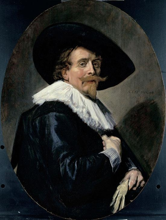 Frans Hals , Portrait of a Man, 1638, Oil on oak wood (oval), 94.5 x 70.3 cm