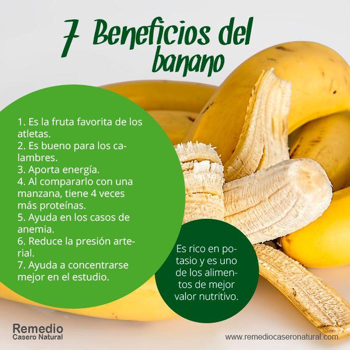 7 beneficios del banano