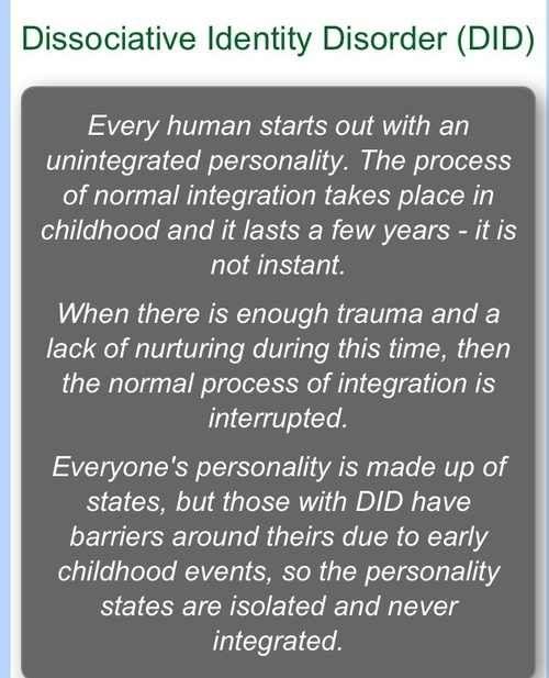 Dissociative identify disorder