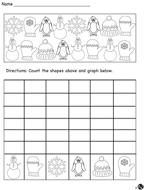 Winter themed graphing set.
