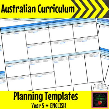 Year 5 Australian Curriculum Planning Templates - English - These Australian Curriculum Planning Templates for Year 5 English will make your planning simple and organised. Stay accountable and keep your planning all in one place. This document can be added to throughout the year. This product contains all the Year 5 English outcomes, separated onto 3 pages:  - Language  - Literature  - Literacy