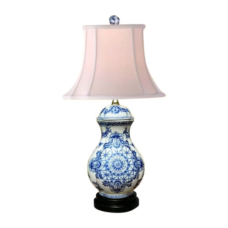 """Chinese Blue and White Porcelain Ginger Jar Round Insignia Table Lamp 23.5"""""""