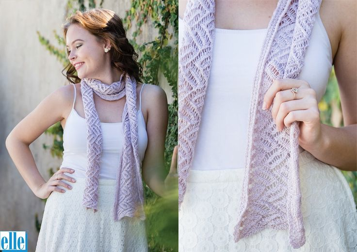 Lace Scarf  Brand: Elle Count: 3ply Yarn: Babykins One size only