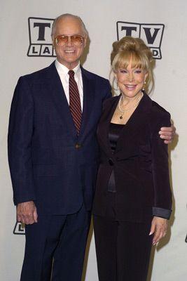 Larry Hagman with Barbara Eden.