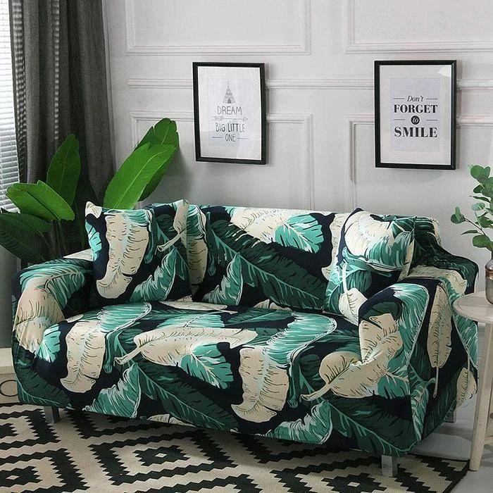 Big Bold Jungle Leaves Sofa Cover In 2020 Sofa Covers High