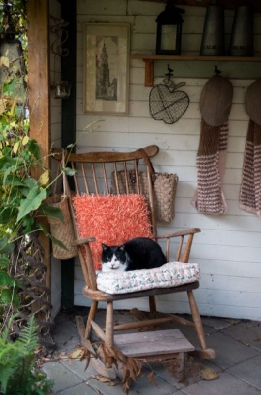 "This vintage rocking chair is from our feature ""Hello Autumn"""