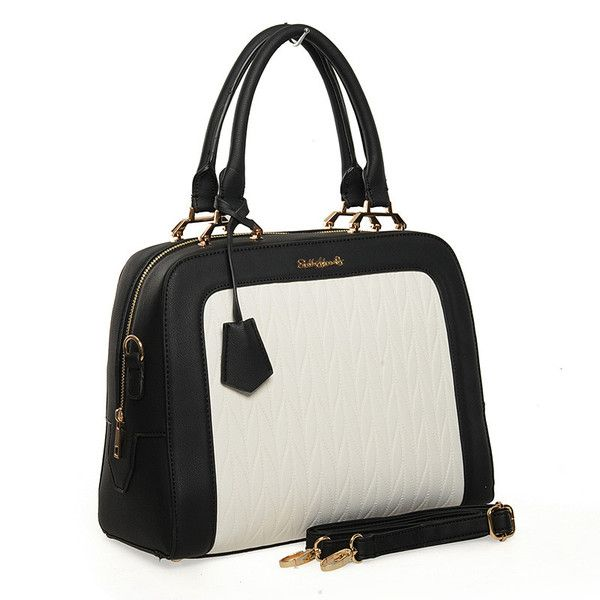 White  -  Quilted Patchwork Ladies Handbag Fashion Shoulder. Out Now Bag £23.99