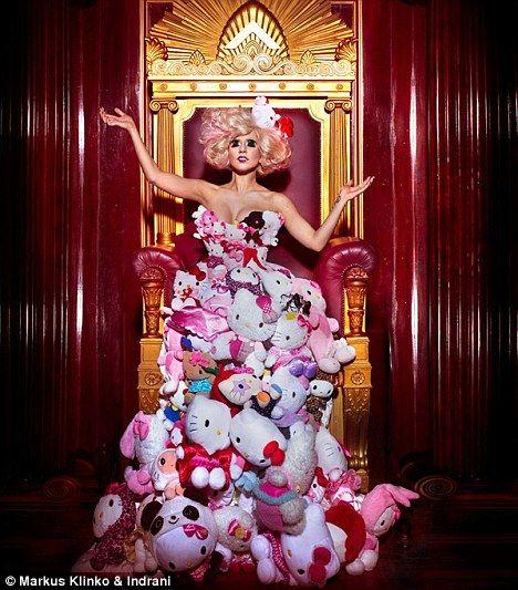 Lady Gaga/Hello Kitty Shoot By Markus Klinko & Indrani (http://www.markusklinko-indrani.com/)