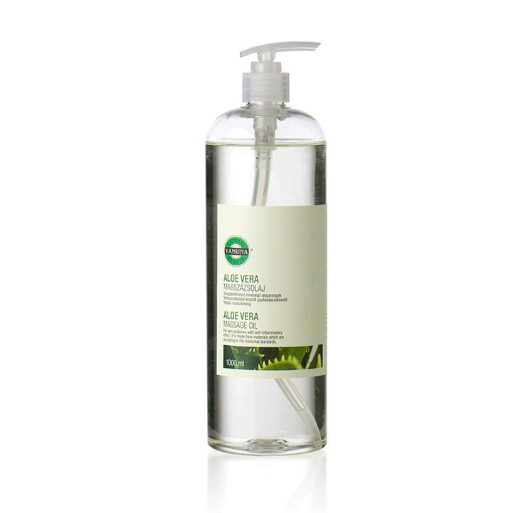 YAMUNA Aloe Vera Massage Oil 1000 ml www.yamuna.hu