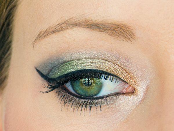 Tutoriel maquillage (pas-à-pas) de pin-up fruité et coloré : Kiwi, mandarine et eyeliner noir