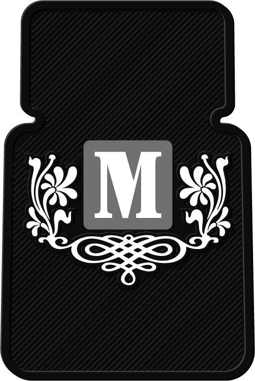 Monogram<br>Personalized 2 pc Vinyl<br>Car Floor Mats