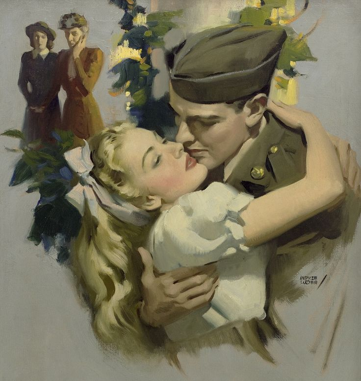 """""""Now That April's Here"""" - Andrew Loomis, 1945."""