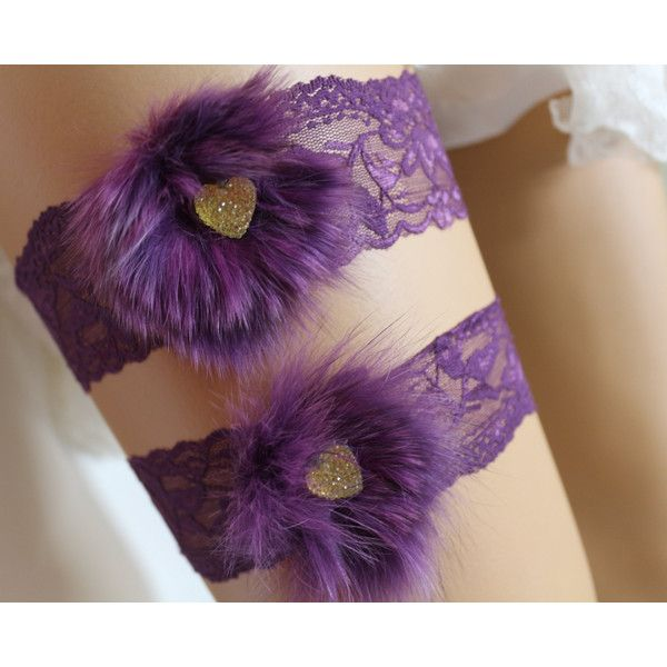 Wedding Garter Purple Lace Bridal Garter,Wedding Foot Accessory,Bridal... ($25) via Polyvore featuring intimates, bridal lingerie, wedding lingerie, bride lingerie, lacy lingerie ve purple lace lingerie