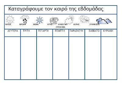 ...Το Νηπιαγωγείο μ' αρέσει πιο πολύ.: Πίνακες για την καθημερινή καταγραφή του ημερολογίου και ημερολόγιο Σεπτεμβρίου και Εβδομαδιαίος πίνα...