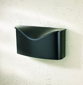 Wall Mount Mailbox Modern Outdoor Letter Mail Drop Box Post Steel Rural Black Re