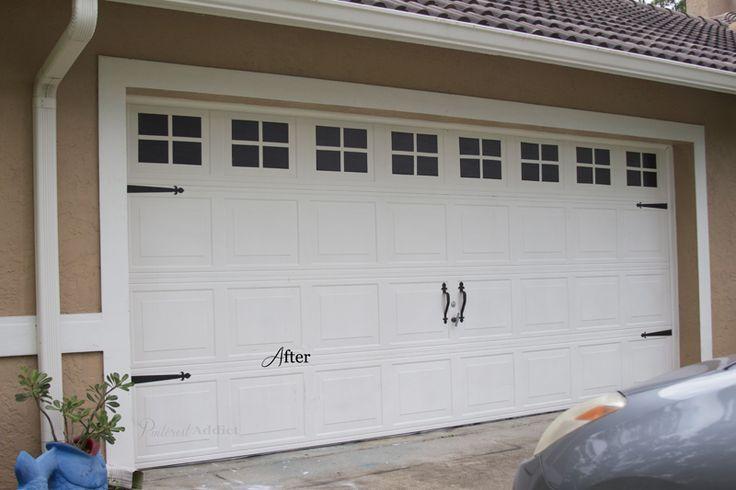 Garage Door Make Over, what a great idea! Carriage Garage Door - After