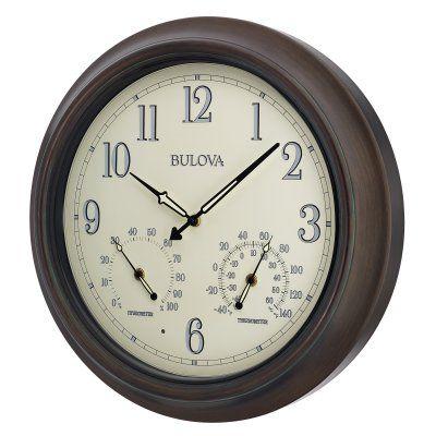 Bulova Weather Master Outdoor Wall Clock - C4813