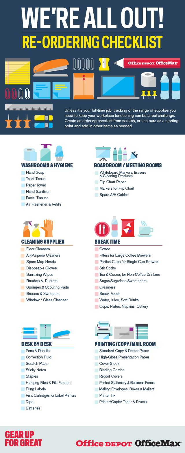 39 best checklists images on pinterest office depot desk supplies were all out re ordering checklist small business office depot solutioingenieria Images