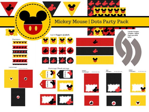 Grab your free mickey mouse printables! birthday party. Minnie mouse will be next!